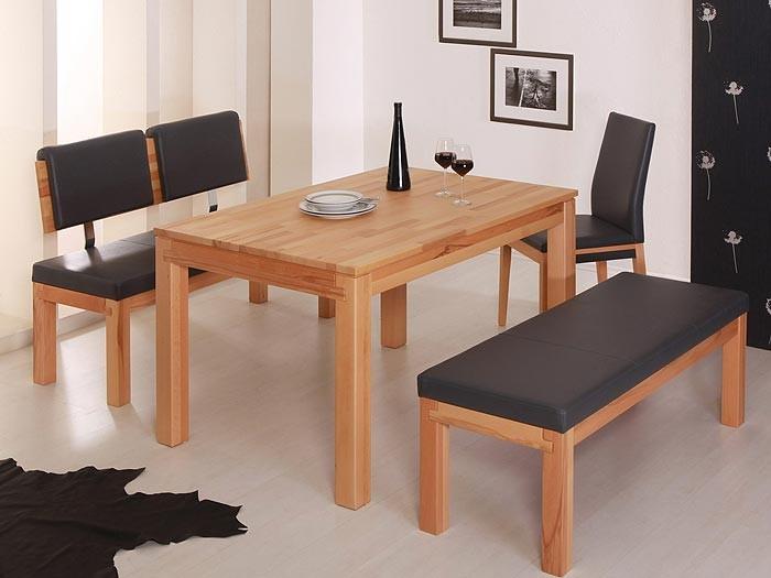 Esstisch Grover 130x90x75cm Kernbuche Lackiert Massivholztisch Tisch Wohnzimmer